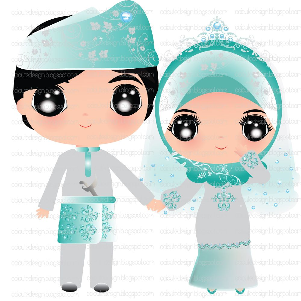 Gambar Ccicute Design Dolly Wedding Gambar Kartun Muslimah