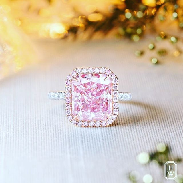 Marie Anntoine Not On Instagram I Doooo Harry Winston 5 99ct Pink Diamond Thinkpink Ido Harrywinston Jew Pink Diamond Pink Diamond Ring Pink Jewelry