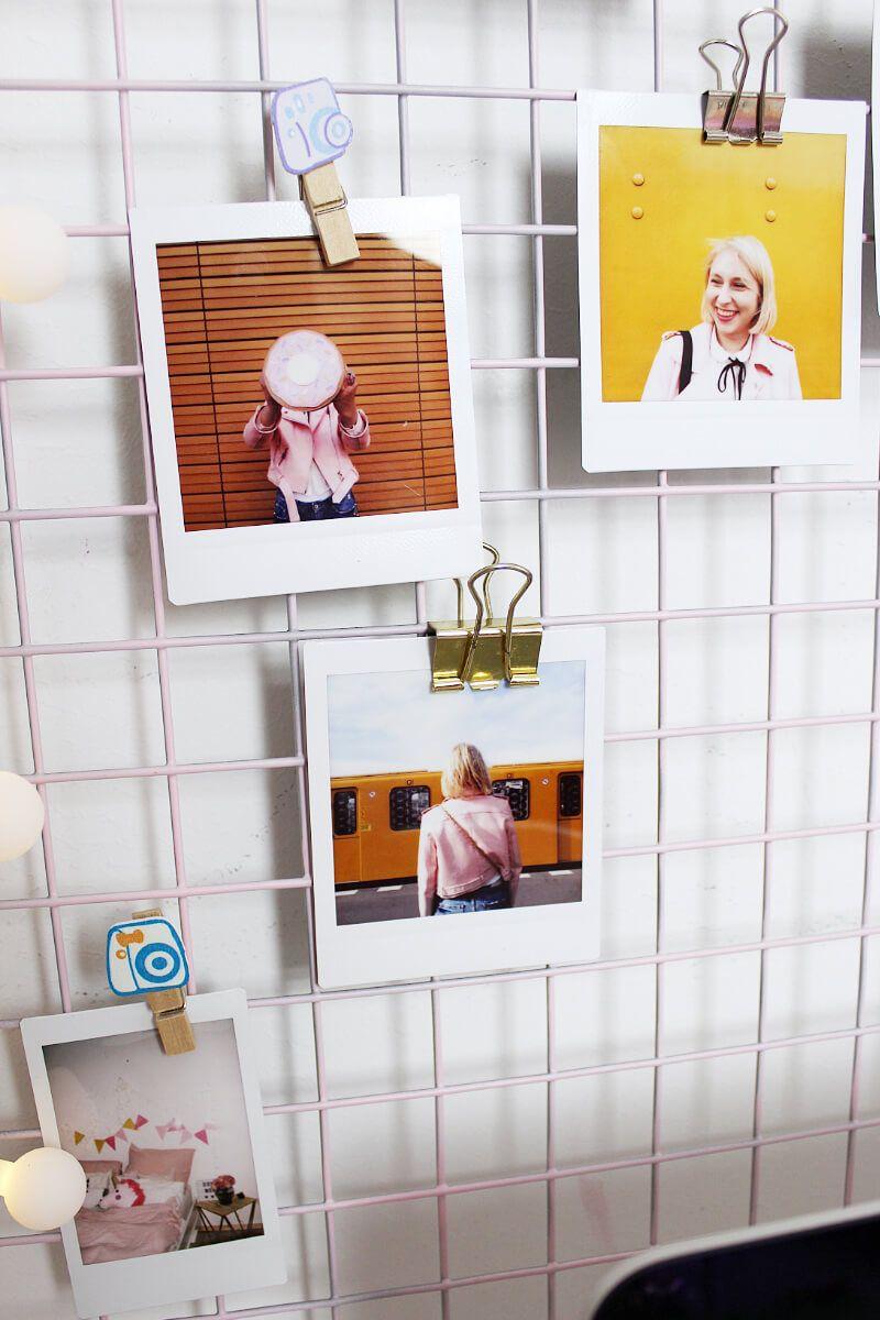DIY Fotowand Selber Machen U0026 Schreibtisch Deko Basteln