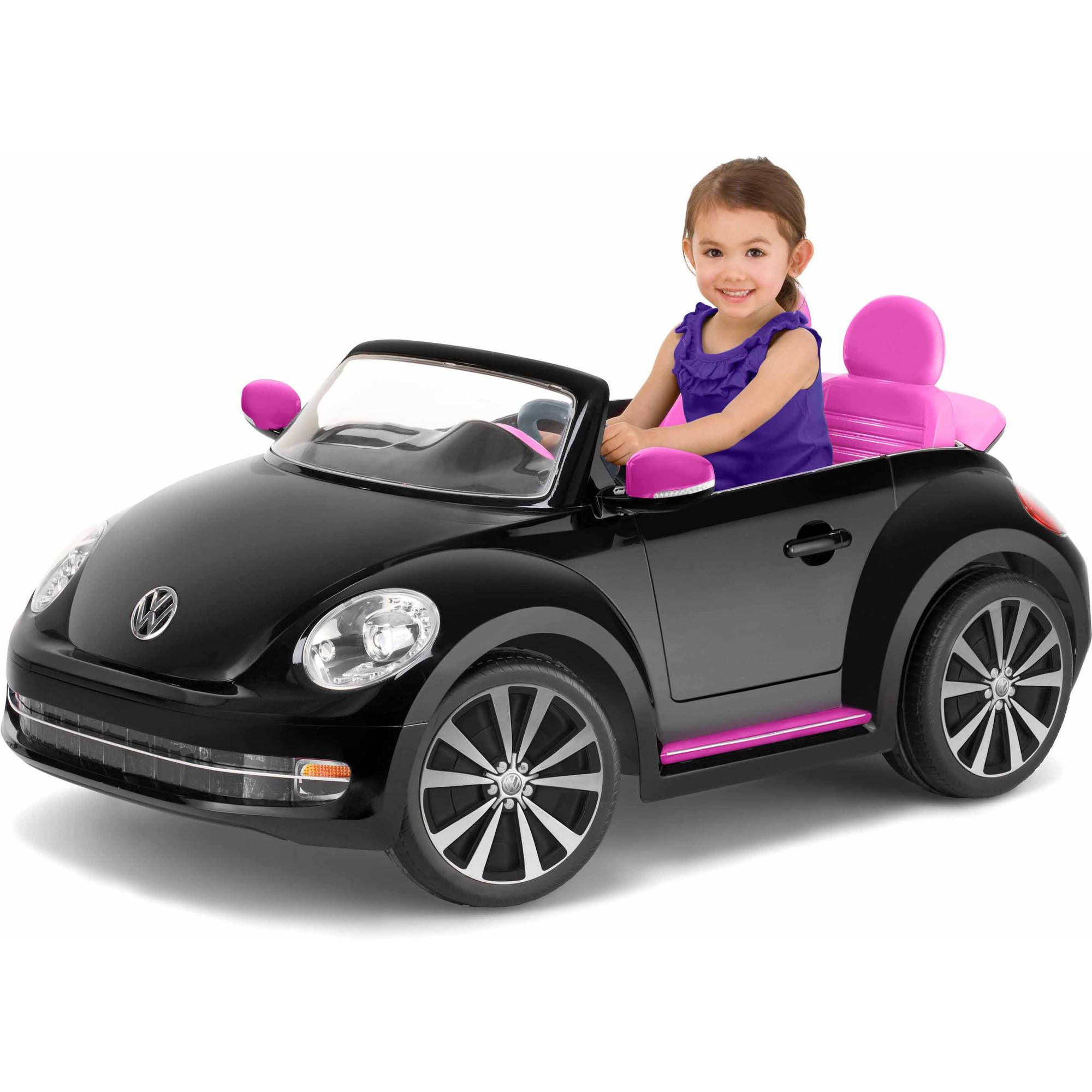0eb4d4fe5ab Kid Trax VW Beetle Convertible 12-Volt Battery-Powered Ride-On ...
