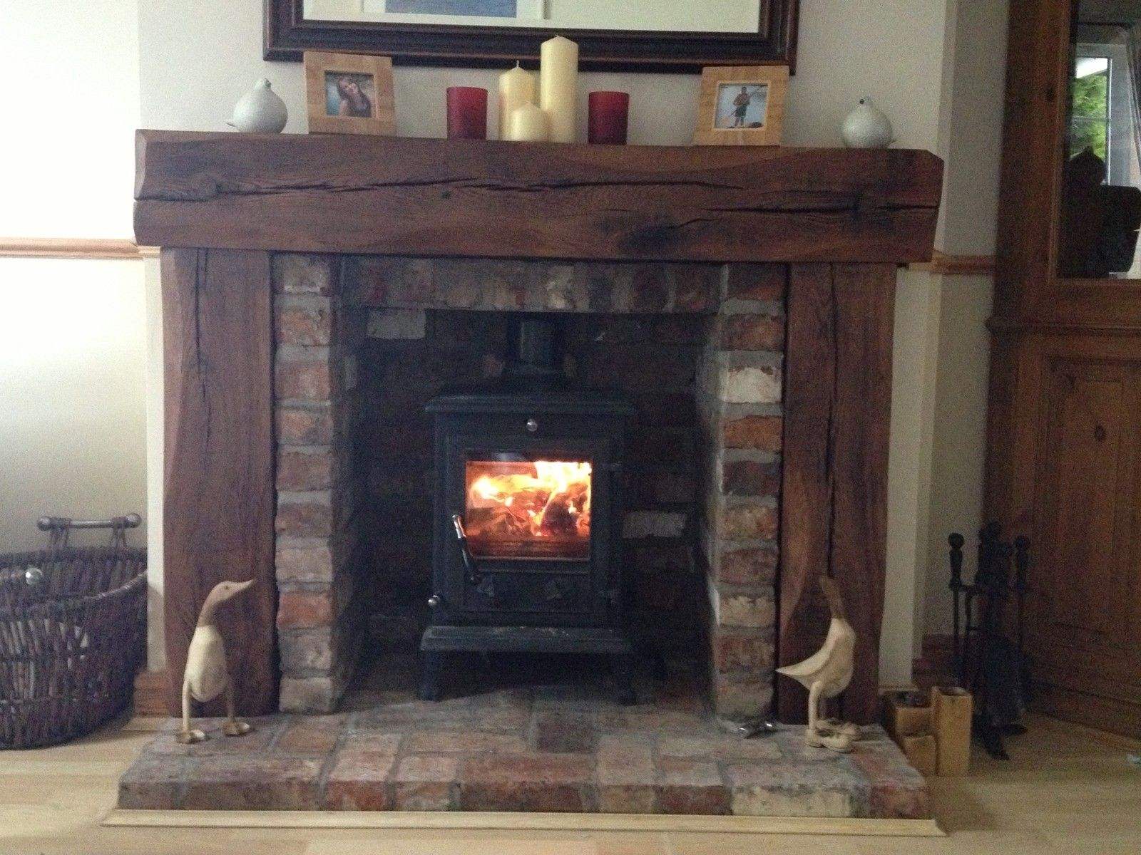 Uncategorized Rustic Fire Place solid aged french oak wood fireplace rustic fire surround place