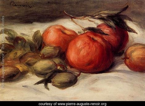Still Life With Apples And Almonds - Pierre Auguste Renoir