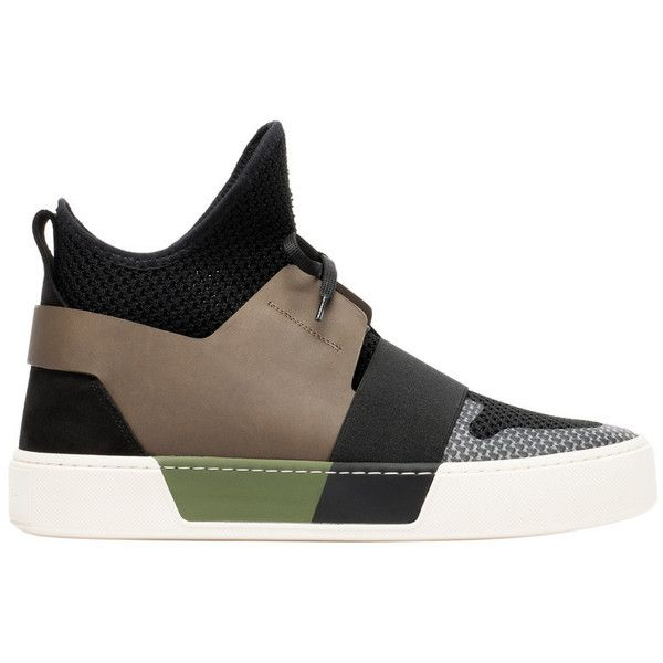 Balenciaga Elastic High Trainers ($595) ❤ liked on Polyvore featuring men's  fashion, men's