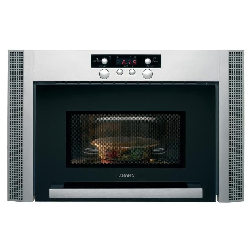 This Sleek Stainless Steel Microwave From Lamona Is Designed To Be Fitted Within Your Cabi Stainless Steel Microwave Online Kitchen Design Free Kitchen Design