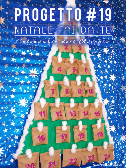 NATALE FAI DA TE Tutorial Calendario dell'Avvento ...