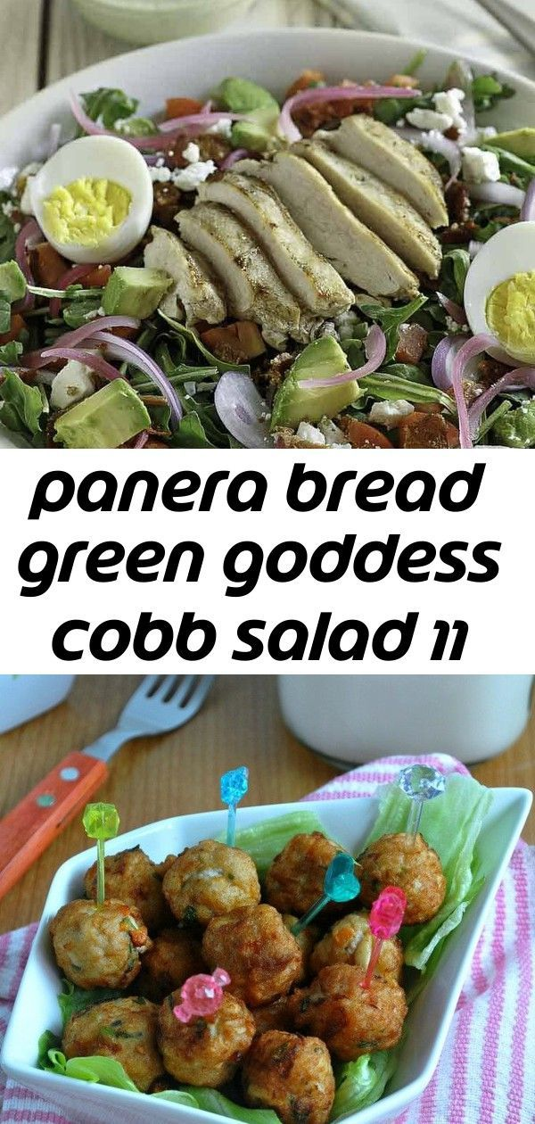bread green goddess cobb salad 11 Panera Bread Green Goddess Cobb Salad is perfect for those who are following a low carb or keto diet HomeStyle Meat Balls in 3 Ways 65 E...