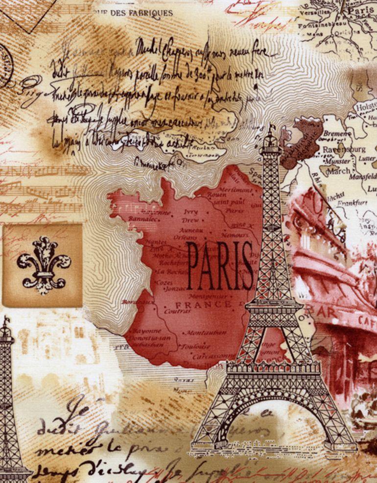 » Paris Timeless Treasures Fabric of Soho NYC / April in Paris / French Themed / via TTFabrics.com