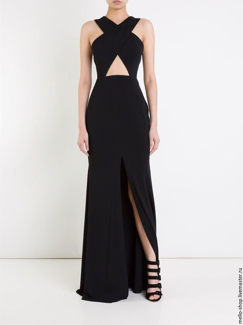 7b61233747e Купить Черное вечернее платье в пол платье летнее платье длинное - вечернее…