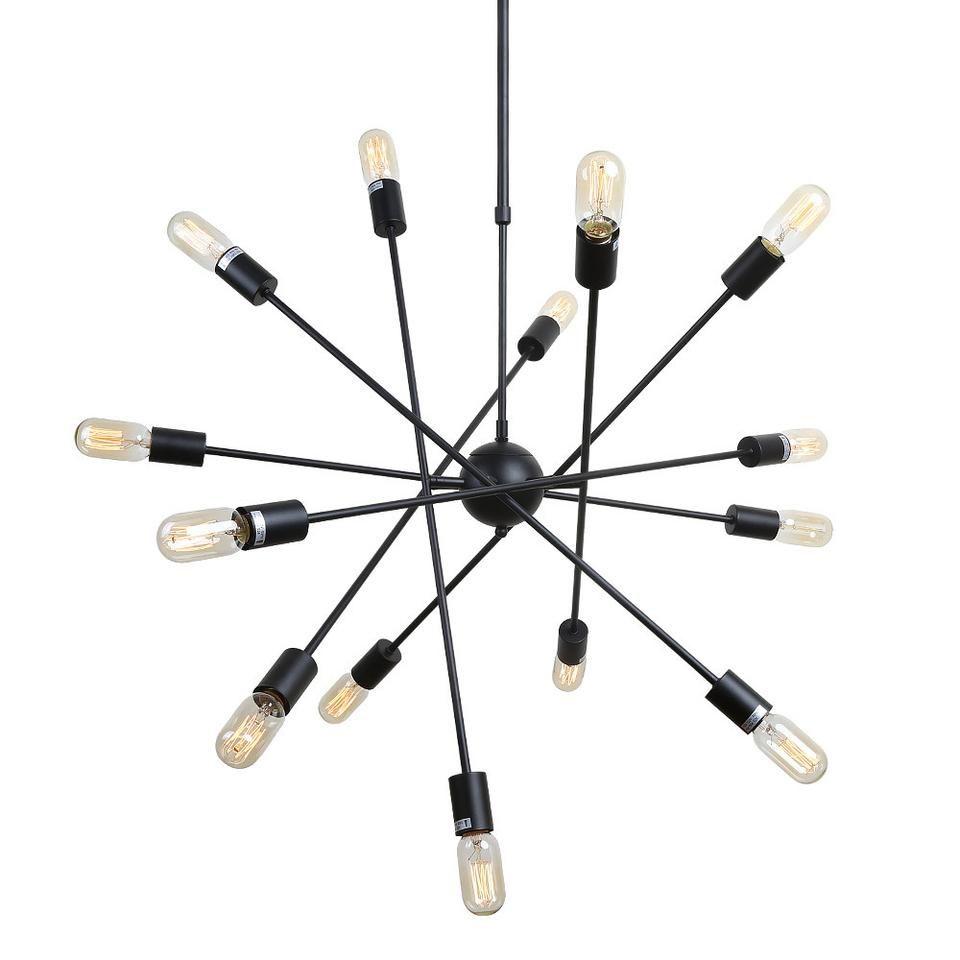Lnc industrial edison vintage style light sputnik pendant light
