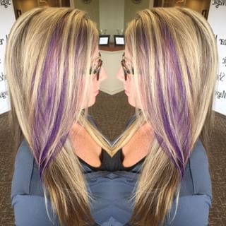 Blonde With Purple Highlights Google Search