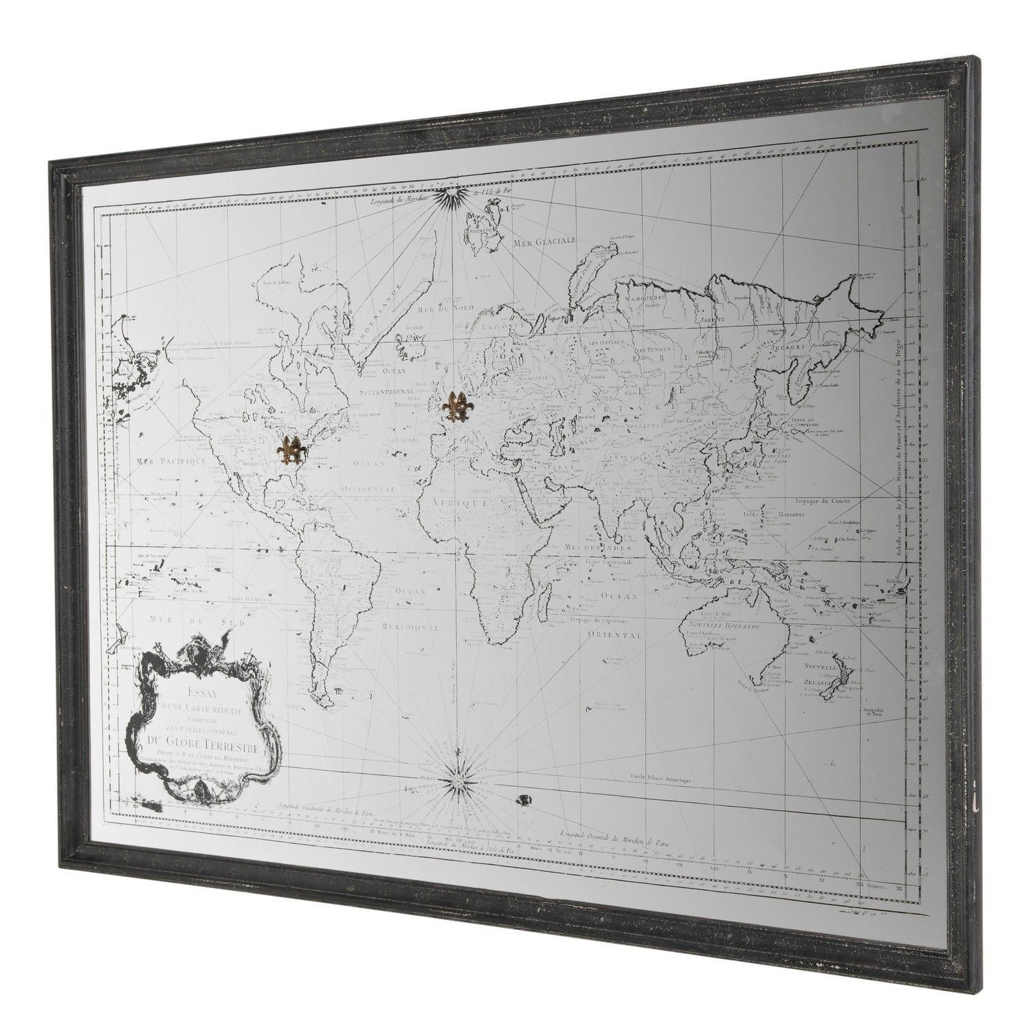 Mirror world map stick glass d decorations pinterest mirror world map stick glass gumiabroncs Gallery