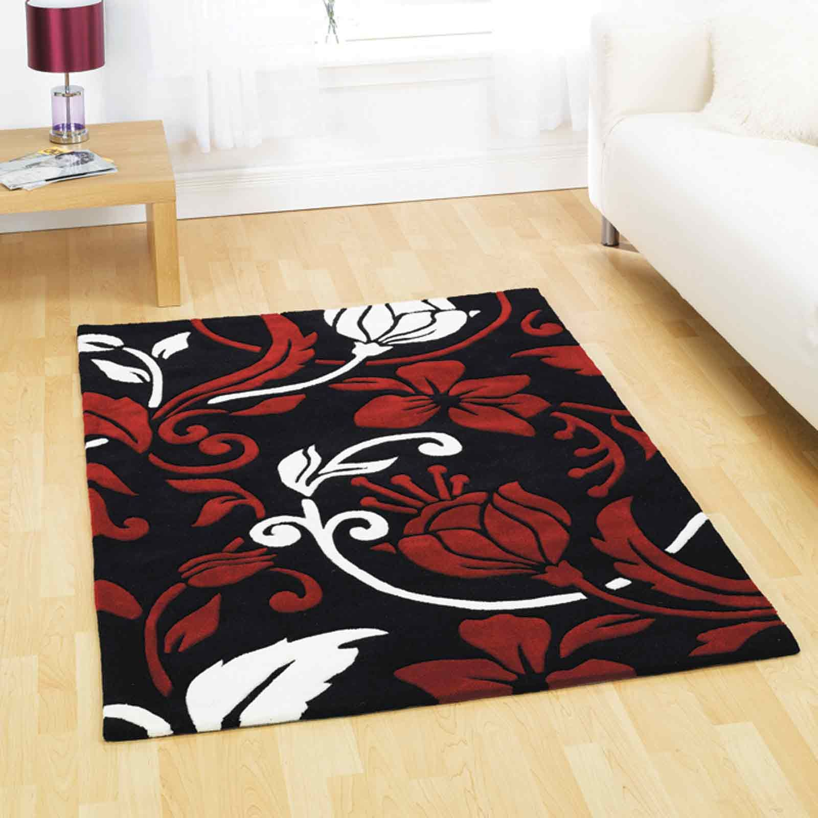 Infinite Damask Rugs Offer A Contemporary Damask Design Offers Quality And  Style. #FloorRugs #. Dark RedRed BlackBlack And WhiteRed ...