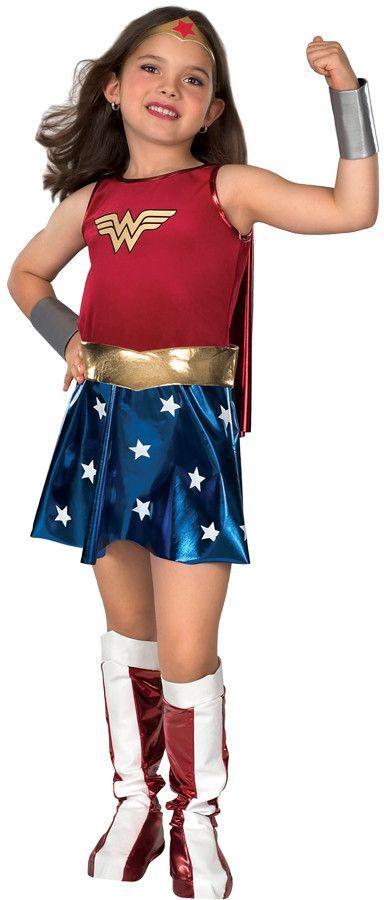 Tween/Teen Girlu0027s Costume Wonder Woman-LargeTwo-tone dress cape belt boot tops gauntlets and headpiece. Child size Large (12-14).  sc 1 st  Pinterest & Tween/Teen Girlu0027s Costume: Wonder Woman-LargeTwo-tone dress cape ...