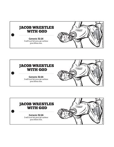 The Story Of Jacob Wrestling With God Bible Bookmarks These Story