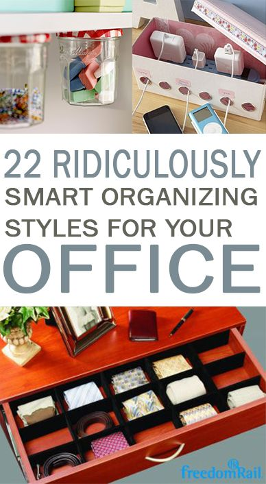 Office Organization, Keep Your Office Organized, DIY Organization, Home  Organization, Popular Pin