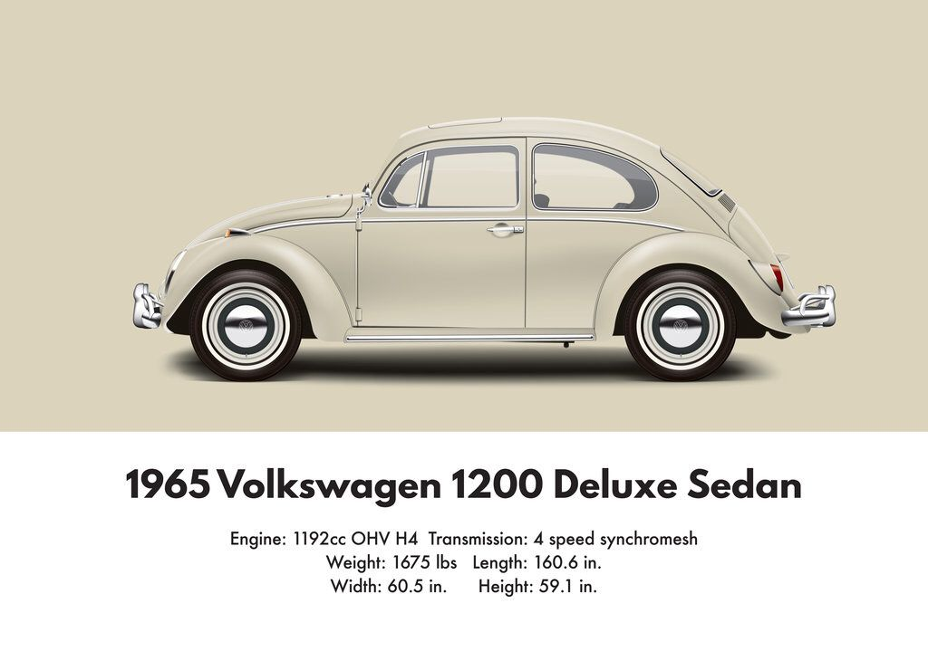 VW Beetle 1965 deluxe sedan 1200