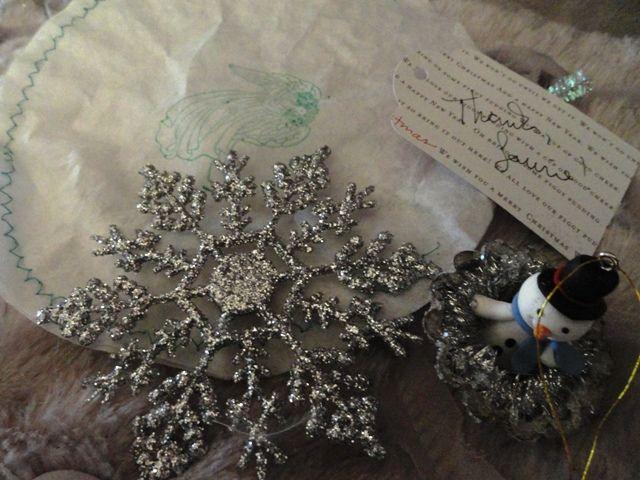 Indulge Your Shelf: Handmade White Christmas tag swap