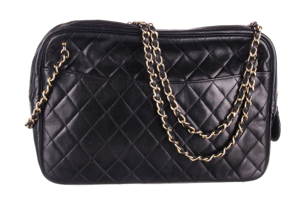03ad45abf7f49 CHANEL Black Lambskin Quilted Front Pocket Camera Bag  fashion  clothing   shoes  accessories  womensbagshandbags (ebay link)