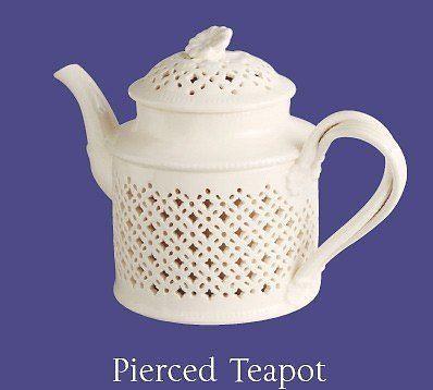 New Hartley Greens Leeds Pottery Creamware Pierced Teapot Tea Pot Gift Boxed | eBay