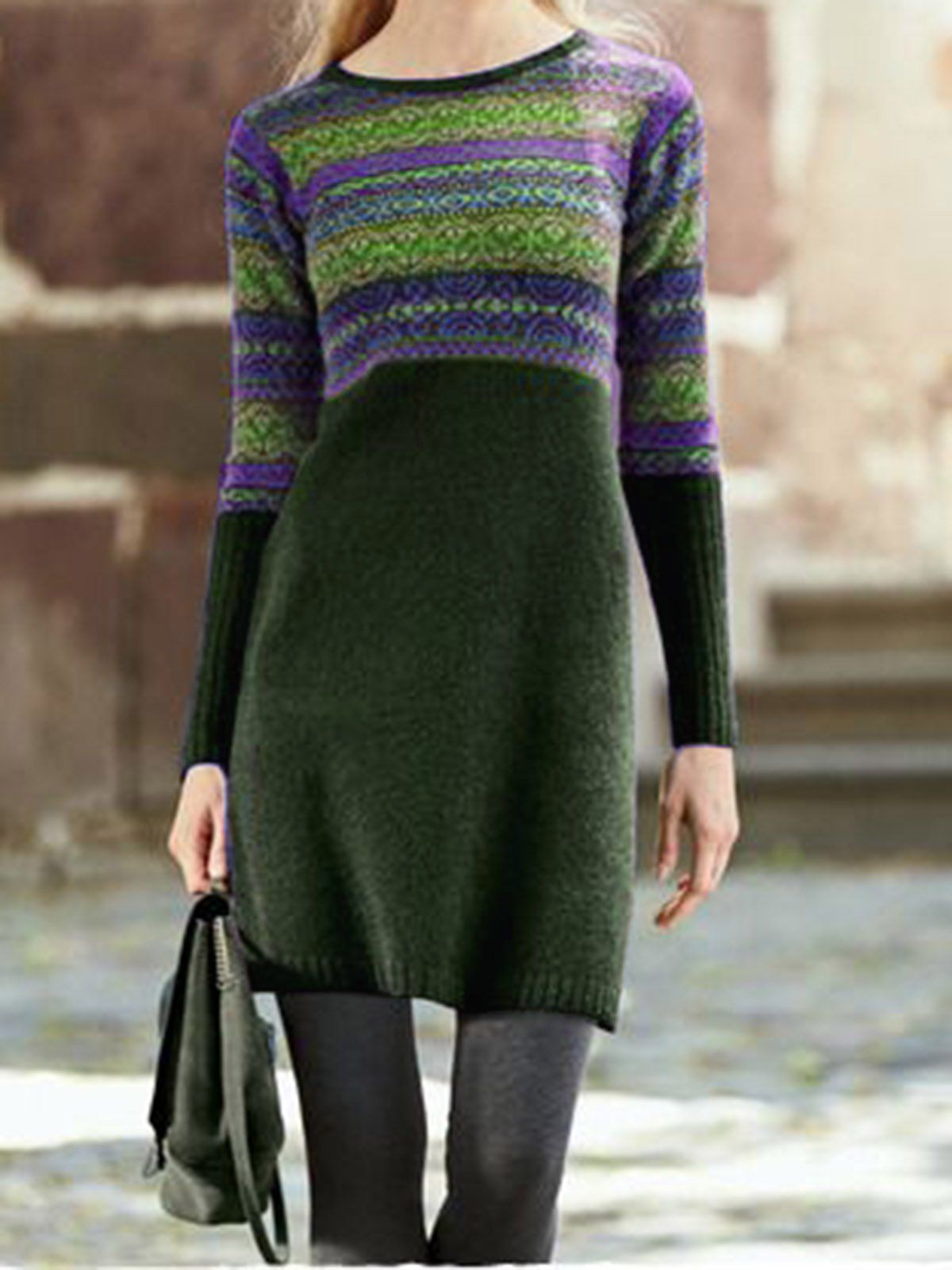 SPU: E09DR95927E Material: Knitted Style: Vintage Theme: Winter,Spring,Fall Color: Deep Green,Deep Blue,Coffee,Purple,Black Size: S,M,L,XL,XXL,3XL,4XL,5XL Bust (cm): S:98, M:103, L:108, XL:113, XXL:118, 3XL:123, 4XL:128, 5XL:133 Size Chart Size Bust cm inch S 98 38.6 M 103 40.6 L 108 42.5 XL 113 44.5 XXL 118 46.5 3XL 123 48.4 4XL 128 50.4 5XL 133 52.4. Womens Fall Clothing Black Women Dresses Vintage Dresses, Deep Green / S