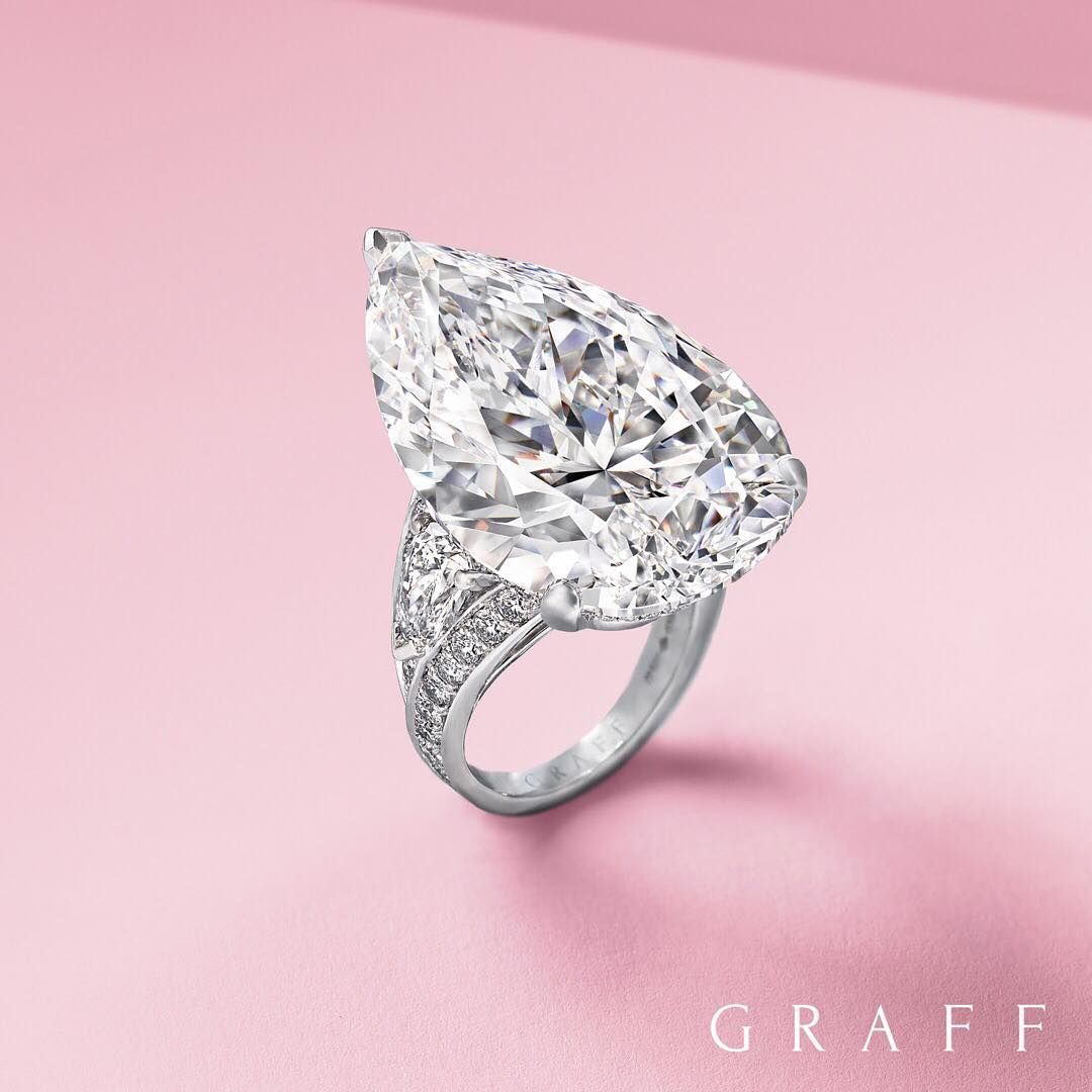 The extraordinary gift of a Graff jewel – a 38 carat D Flawless pear ...