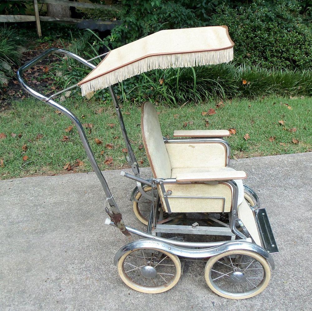 Vintage Retro Baby Stroller StrollOChair Fringe