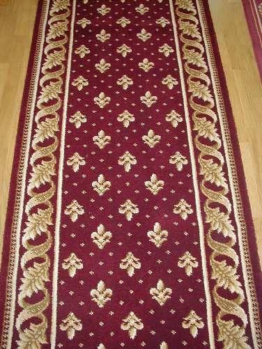 Fleur De Lis Regal Red Carpet With Gold Border Red Carpet Runner