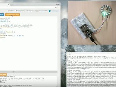 Noted: Neopixel strip control on ESP8266 with MongooseOS in
