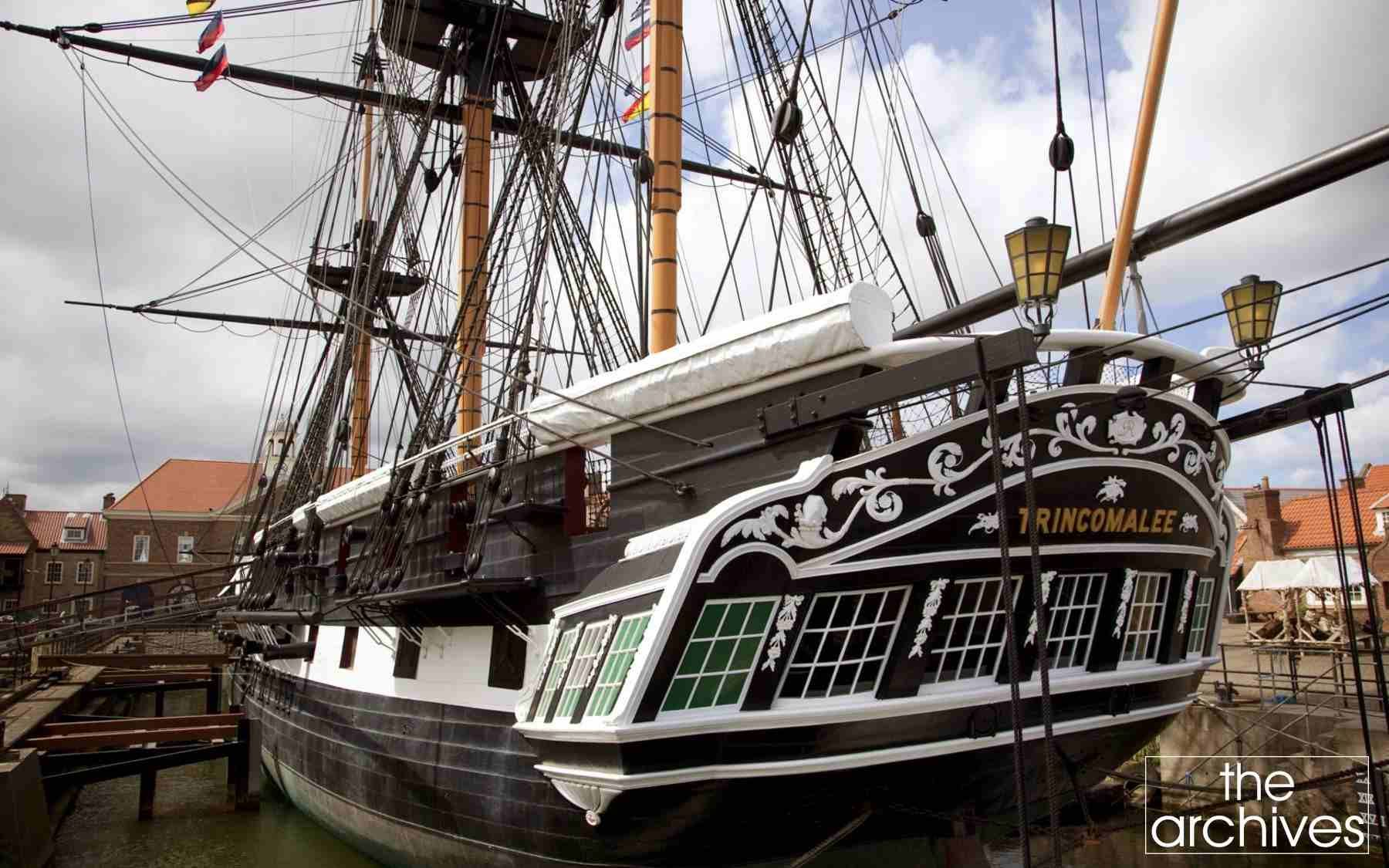 Hms Trincomalee Is A Royal Navy Leda Class Sailing Frigate Built Shortly After The End Of The Napoleonic Wars Model Sailing Ships Old Sailing Ships Tall Ships
