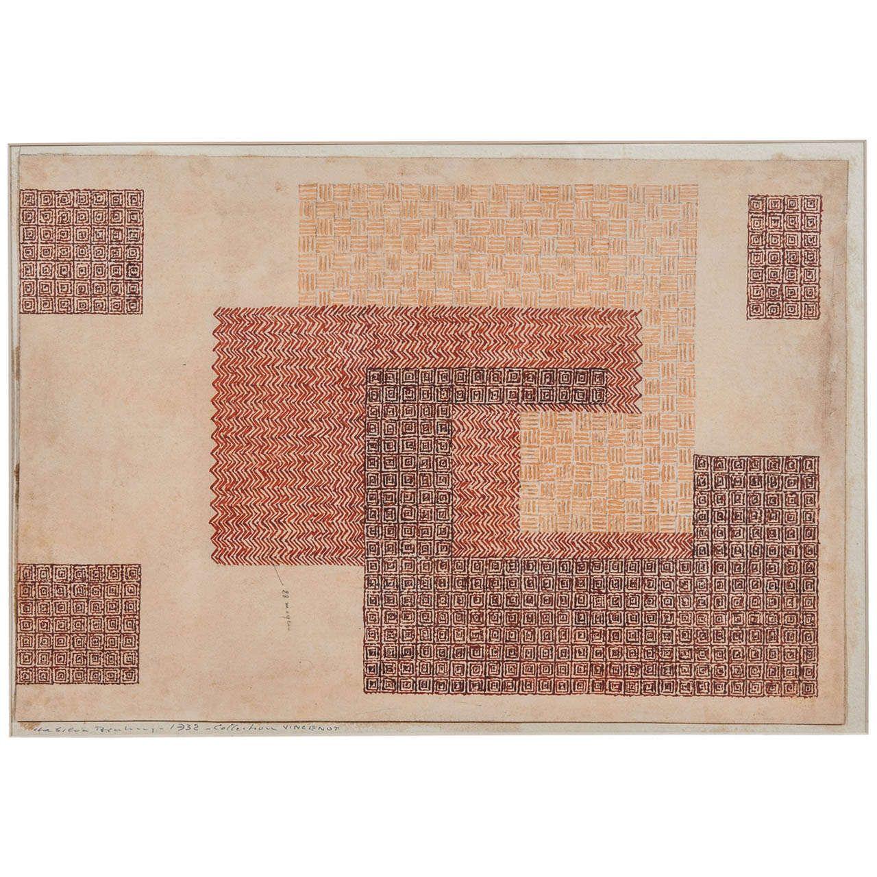 Da silva bruhns cubist carpet design study carpet design wall