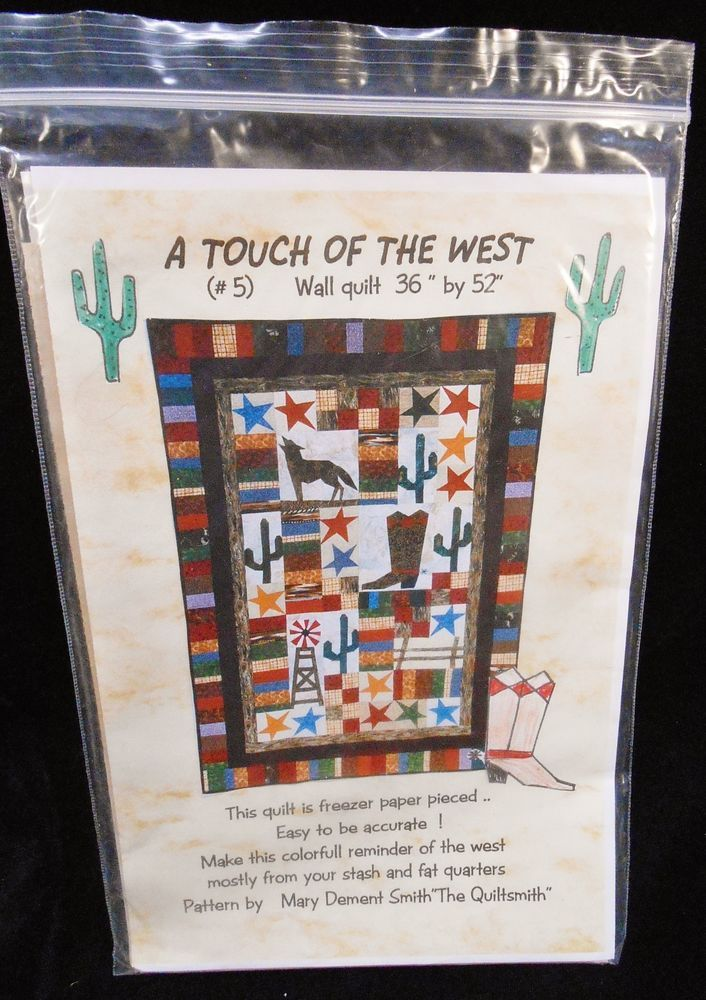 A Touch of the West freezer paper pieced Wall Hanging Quilt pattern #TheQuiltsmith
