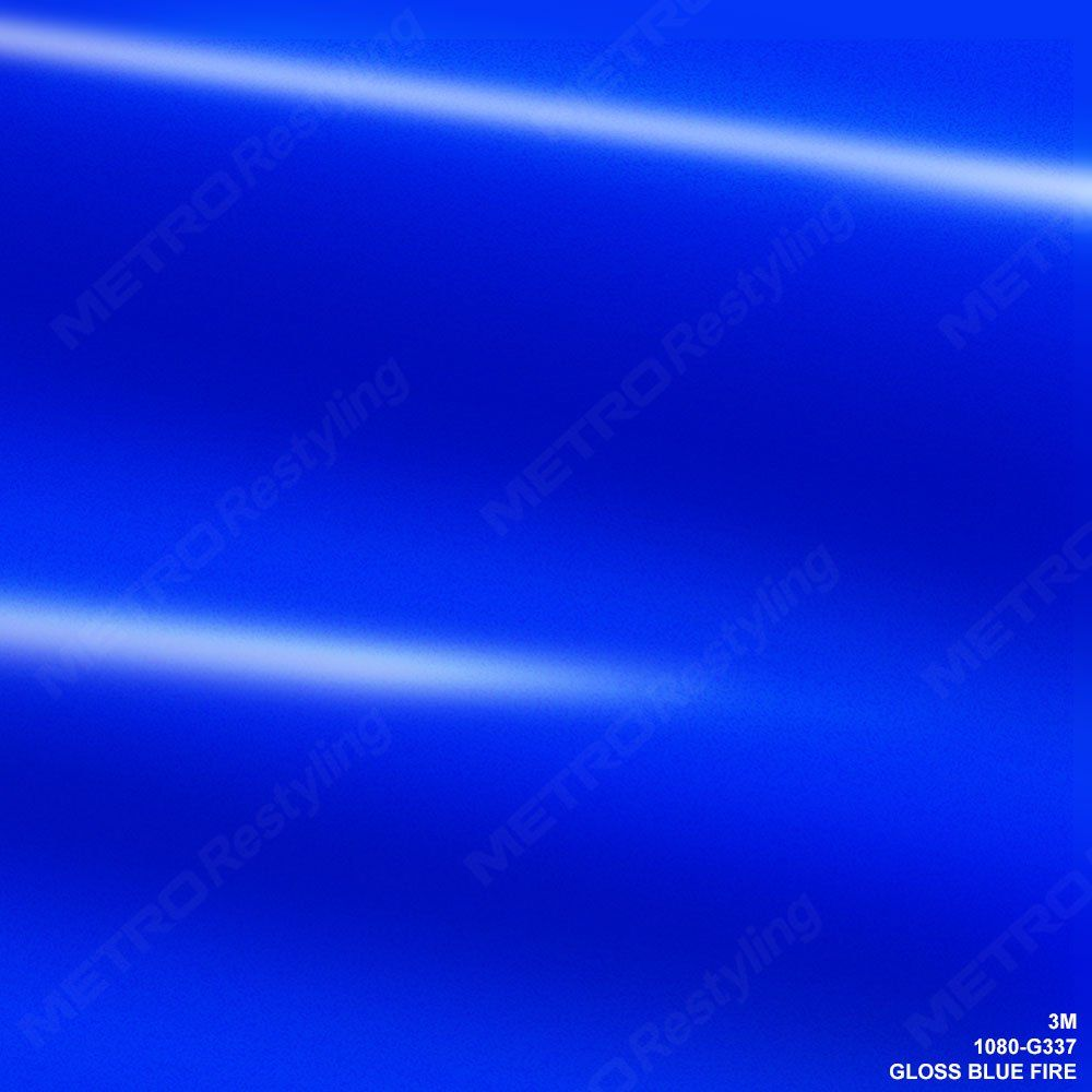 3M 1080 G337 GLOSS BLUE FIRE 3in x 5in SAMPLE SIZE Car Wrap