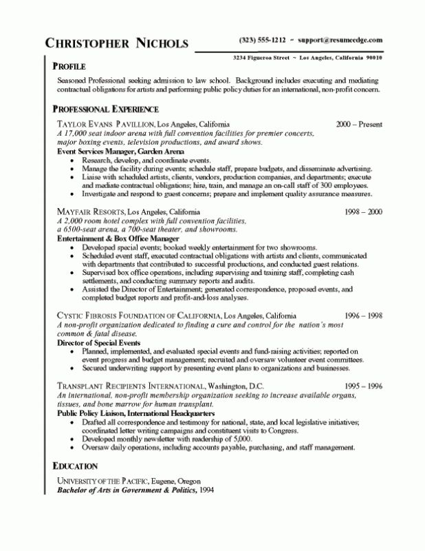 Bullet Points Chronological Resume Template Resume Template