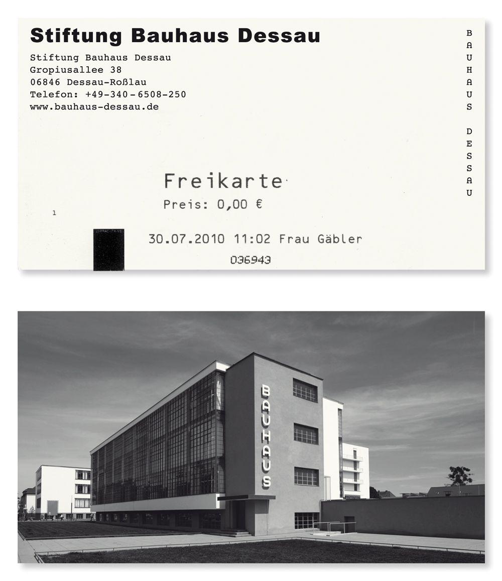 Stiftung Bauhaus Desau - Business Card Typefaces Used: Dessauer ...