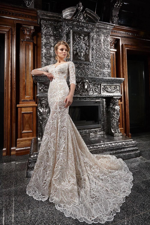 Venita Lavish lace romantic 20/20 sleeve wedding dress – KC Haute ...