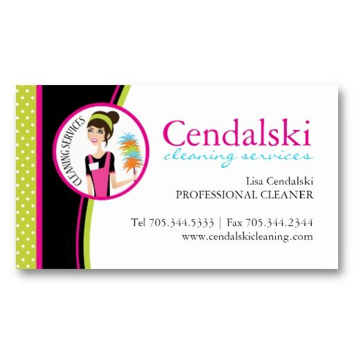 Whimsical Cleaning Services Business Cards Zazzle Com