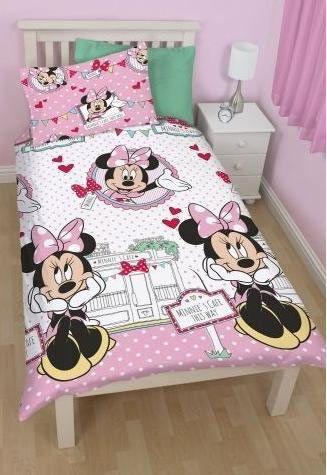 Funda Nordica Reversible Minnie Mouse Rosa Disney Preciosa Con La Imagen De