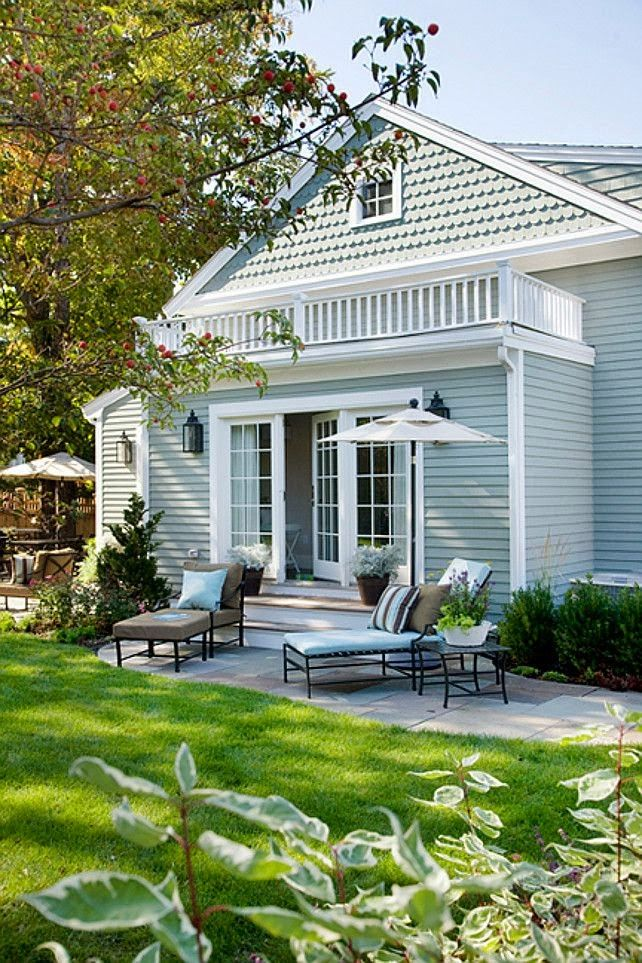 Backyard Patio Ideas Flowers And Gardens House Exterior Blue House Paint Exterior Exterior Paint Colors For House