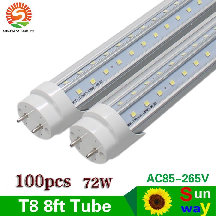 Find More Led Bulbs Tubes Information About Sunway Led Tube Bulb Lamp G13 Bi Pin V Shaped Double Row 8ft Led Tube Lights Led Tube Light Led Tubes Tube Light