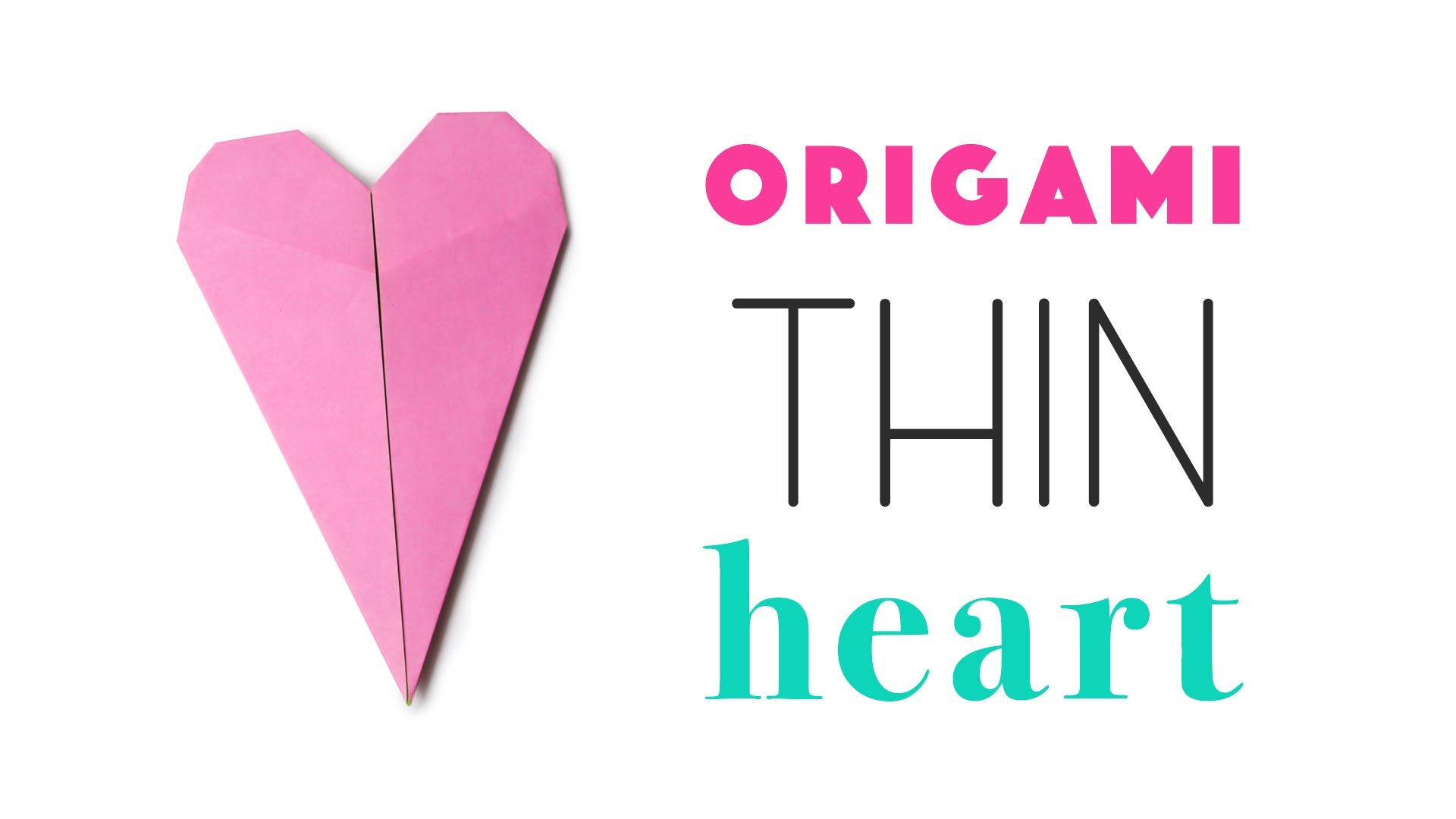 Thin Origami Heart Tutorial ♥ DIY ♥ | Ideas para hacer con ... - photo#20