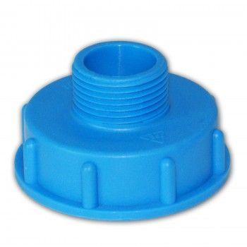 aus PE Kunststoff//Klappenhahn//Absperrhahn//Zubeh/ör f/ür IBC-Beh/älter Tanks Stabilo-Sanitaer IBC Container Hahn DN50 55//60 mm S60x6