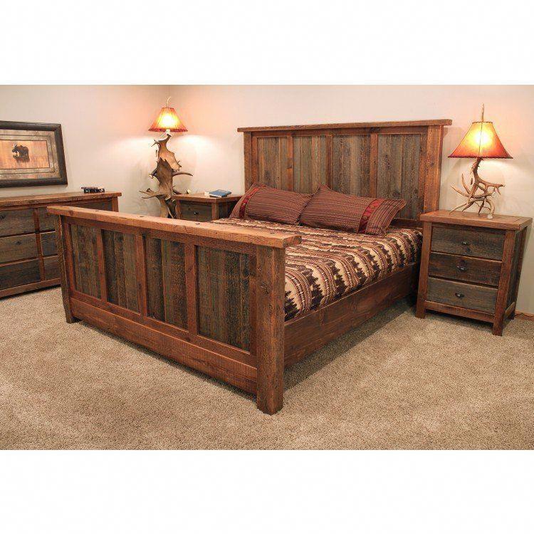 rustic reclaimed barn wood bed rusticfurniture  barnwood