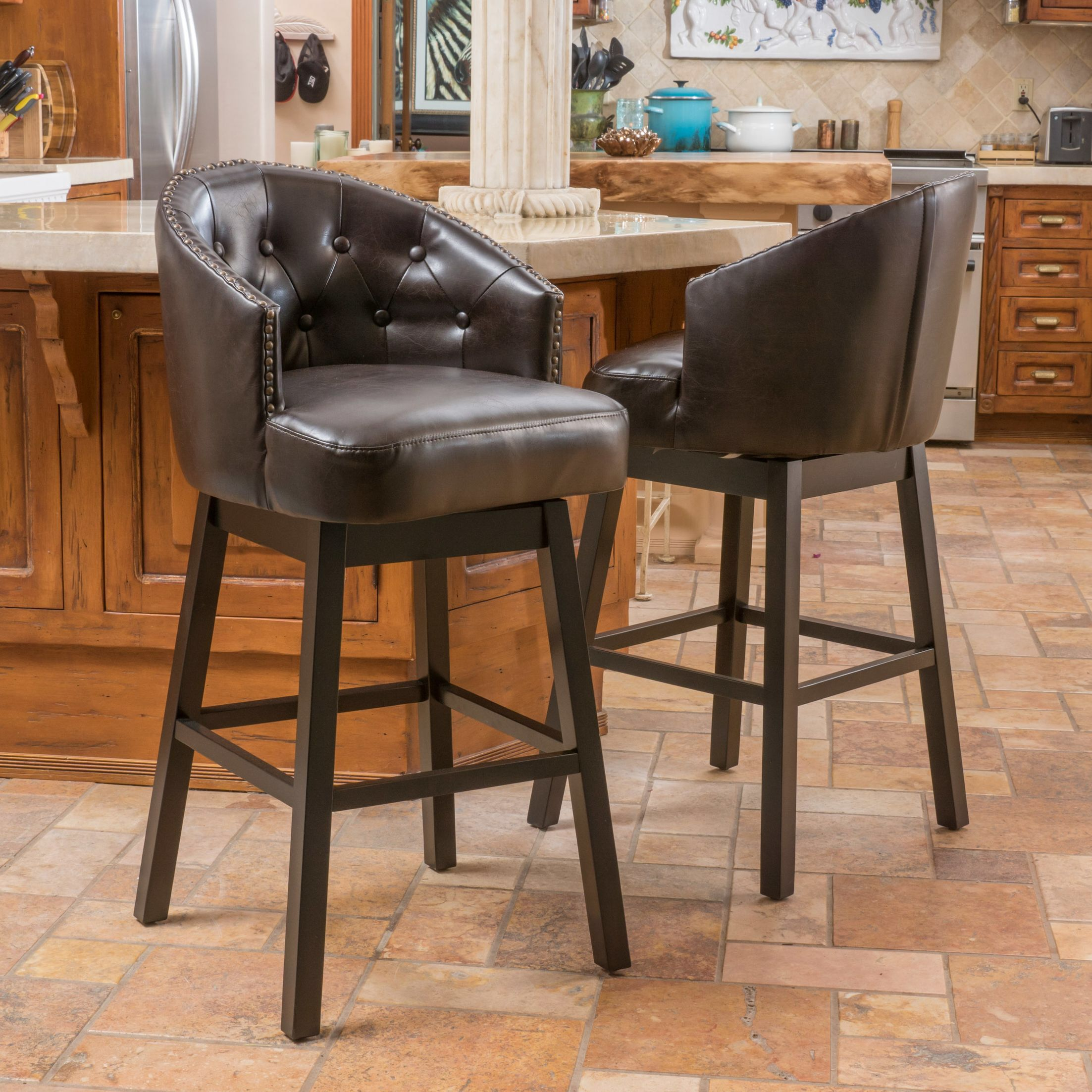 Swivel Bar Stools With Back Counter Height