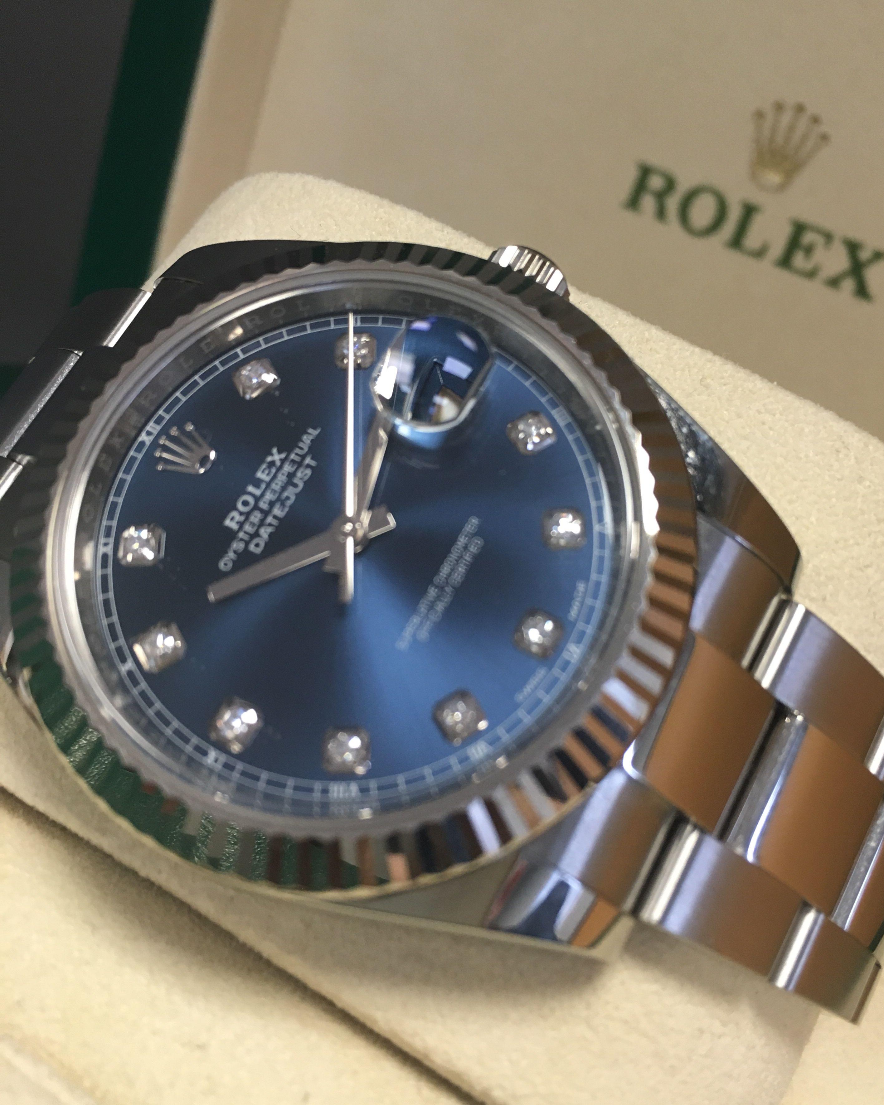 cf7f126113c Rolex Datejust 41 Blue Diamond Dial 126334   dreamwatch   Rolex ...