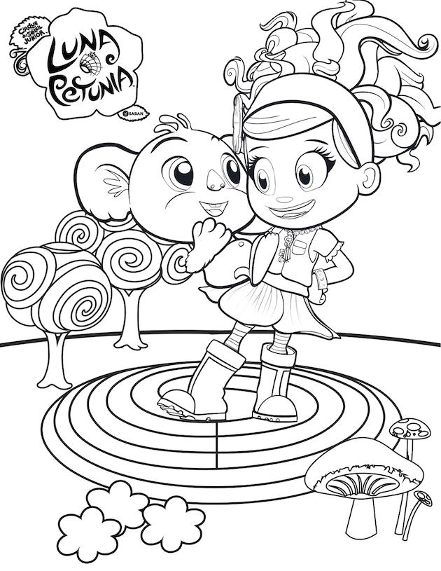 luna petunia coloring pages Luna Petunia Debuts on Netflix + Free Printables | Luna Putnuia  luna petunia coloring pages