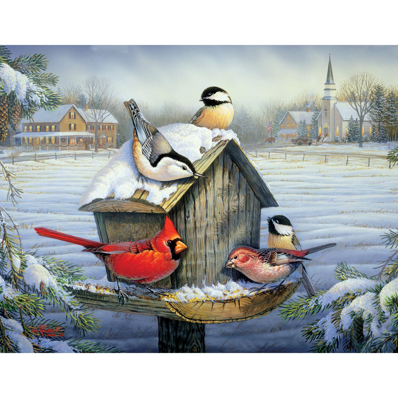 """Christmas Dinner"" by Sam Timm Bird canvas, Art, Painting"
