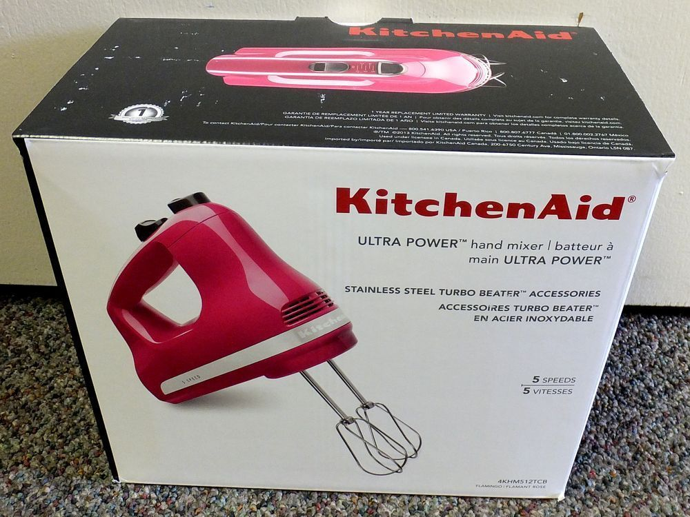 kitchenaid 5 speed ultra power hand mixer flamingo pink new br82