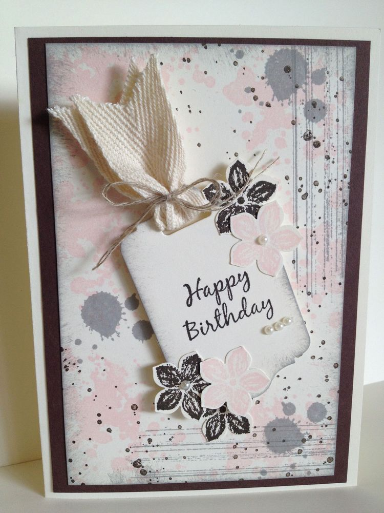 Handmade Birthday Card Stampin Up Stunning Card Anyone Would Be