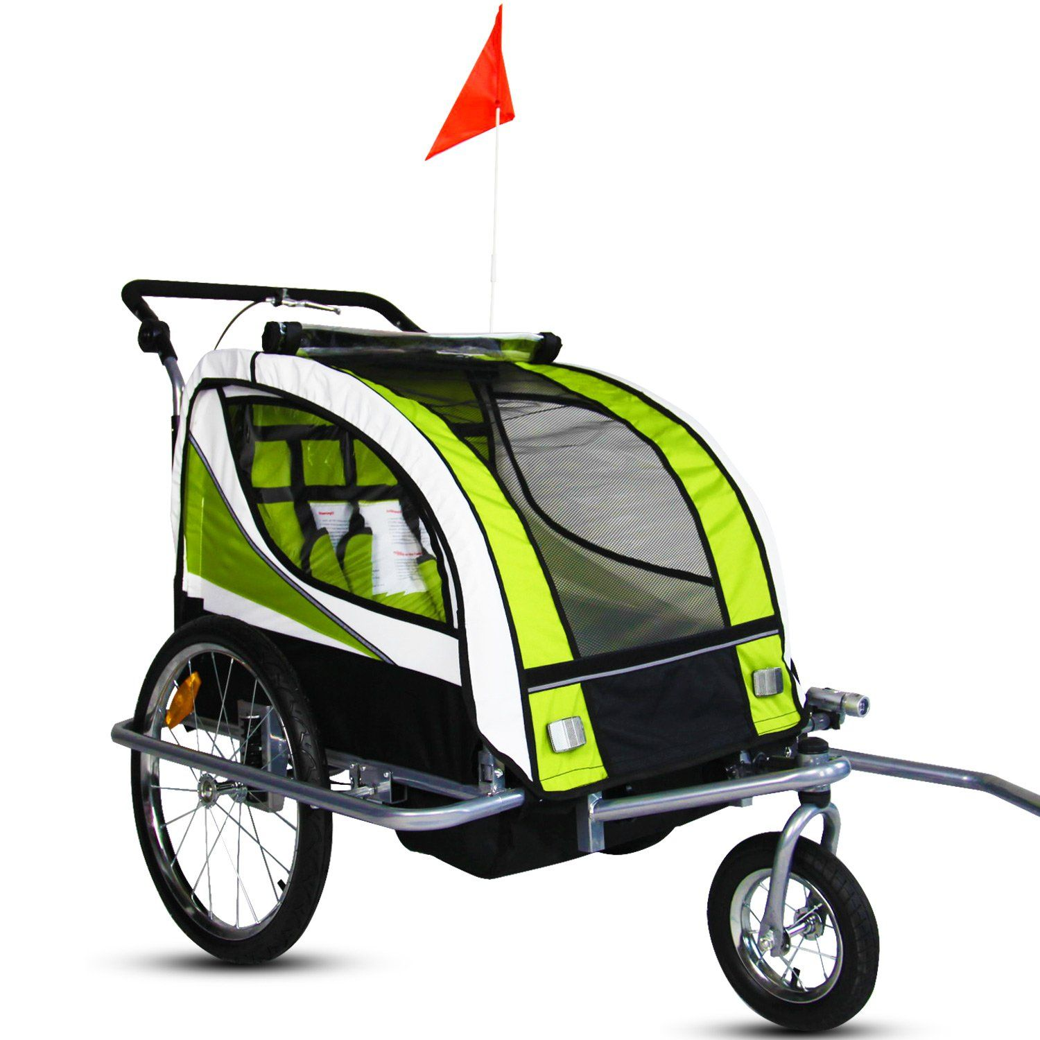 Kinbor Pet Bicycle Trailer Dog Carrier Biking with dog