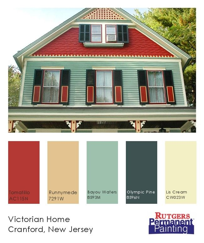 Victorian House Exterior Color Chart Home With Bold Paint Colors